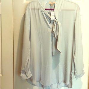 NWT! Baby blue flowy blouse by Loft